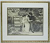 Framed Print of Victorian Courting Scene
