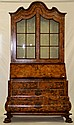 Marquetry inlaid Dutch secretary bookcase