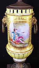 Pair of Serves Hand Painted Scenic lamps
