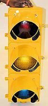 Painted Yellow Traffic Light