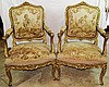 Pair 18th Century French Arm Chairs