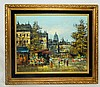Oliveri Oil on Canvas of City Scene