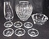 Grouping of Glassware incl. Val St. Lambert, 9 pcs