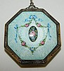 Sterling Enamel Decorated Compact