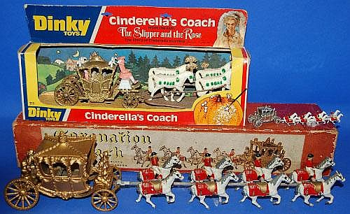 Boxed Lesney Coronation coach model, Dinky boxed