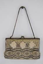 Antique Beaded & Sequin Purse Clutch