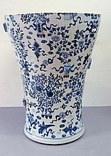 A very large Chinese blue and white vase 19th