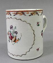 A Chinese export famille rose mug 18th century