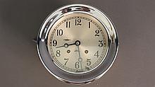 Chelsea chrome ship's clock from yacht