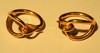 HERMES Paris 2 serres-foulard en métal doré