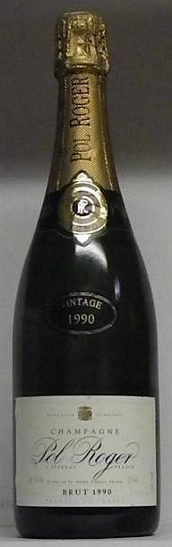 1 BOUTEILLE CHAMPAGNE POL ROGER 1990
