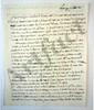Marie-Joseph de LAFAYETTE. L.A.S. « L.F. », La Grange 10 octobre 1821, [au marquis de LALLY-TOLENDAL] ; 1 page et quart in-4.