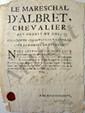 César Phébus d'ALBRET (1614-1676) maréchal de France. P.S., Dacqs [Dax] 3 juillet 1674 ; 1 page petit in-4 en partie imprimée à son en-tête et ses titres, cachet cire rouge aux armes.