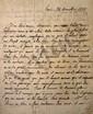 Félicité de LAMENNAIS (1782-1854). L.A.S., Paris 24 décembre 1818 ; 1 page et demie in-4.