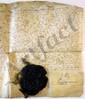 LOUIS XIV (1638-1715). P.S. (secrétaire), contresignée par Hugues de LIONNE, Paris octobre 1663 ; vélin in-plano, grand sceau cire noire pendant sur soies rouges et vertes (brisé).