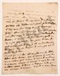 Charles de Secondat, baron de La Brède et de MONTESQUIEU. L.A. (minute), Paris 24 août 1736, [au comte François de BULKELEY] ; 1 page et demie in-4. [CM 460]