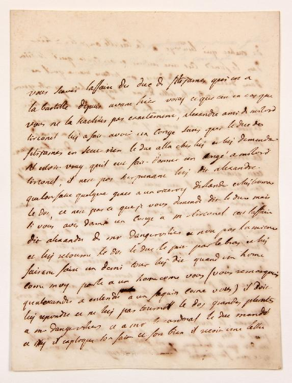 Charles de Secondat, baron de La Brède et de MONTESQUIEU. L.A.S. « M » (minute), Paris 2 juin 1737, à François de BULKELEY à Londres ; 2 pages et demie in-4. [CM 469]