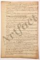 Thomas-Arthur de LALLY-TOLENDAL. Ensemble de 7 MANUSCRITS, le premier avec ADDITIONS autographes, [vers 1763-1765] ; 72 pages in-fol., avec de nombreuses ratures et corrections (certaines autographes), sous chemise titrée : Chef d'accusations, et