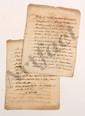 Denis DODART (1698-1775) intendant de la généralité de Bourges, ami et correspondant de Montesquieu. L.A.S. et L.A., Bourges 24 juillet et 8 août 1734, à MONTESQUIEU ; 2 pages in-4 chaque. [CM 402 et 405]