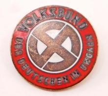 NAZI GERMAN NSDAP HUNGARIAN PARTY BADGE