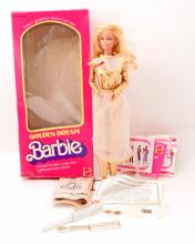 VINTAGE 1980 MATTELL GOLDEN DREAM BARBIE DOLL IN ORIGINAL BOX