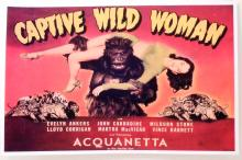 CAPTIVE WILD WOMAN MOVIE POSTER PRINT APPROX. 11