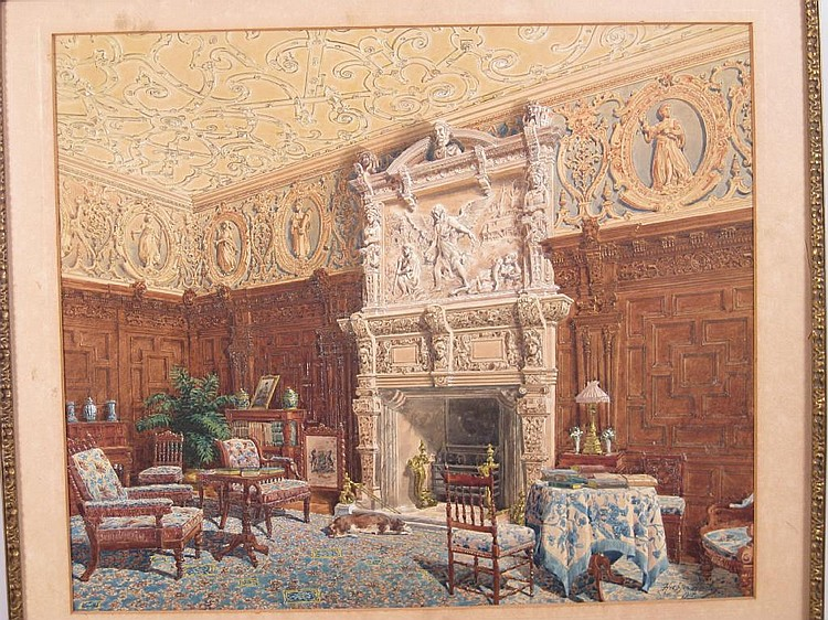 HUGHSON HAWLEY (1850-1936) The Carved Parlour,