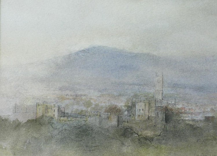 KENNETH LAUDER. Ludlow, signed, watercolour, 5 x 7
