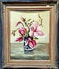 Dorothy Clemens Magnolias Oil on canvas board