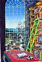 Nicholas Hamper (b.1956) View from the State Library Window 1984 Oil on canvas