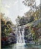 Margaret Agnes Coen (1913-1993) Waterfall Watercolour