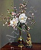 Reginald Earl (Reg) Campbell (1923-2008) Spring Blooms in a Brass Vase Oil on canvas on board