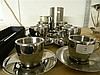 Avanti coffee cups, together with Carrol Boyes spoon and others