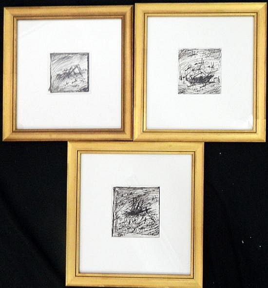 Kevin Charles (Pro) Hart (1928-2006) Ant Study No.2, Ant Study No.3 + Study For Dead Cockroach (3) Each Pen & Ink