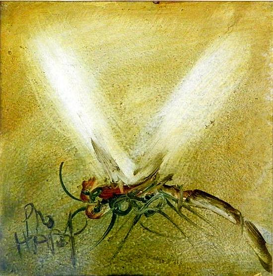 Kevin Charles (Pro) Hart 1928-2006) Dragonfly Oil on board