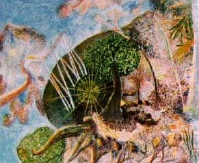 William Francis (Bill) Robinson (b.1936) Creation Landscape - Man & the Spheres I 1991 Colour lithograph ed. 3/3 P/P