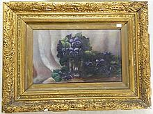 Artist Unknown  Still Life, Violets Oil on canvas