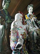 A collection of five Chinese ceramic figures