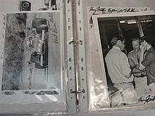 A folder of photographs and autographs (approx 50)