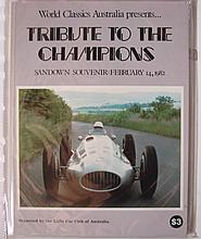 A Jack Brabhams signed tribute to the champions