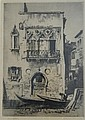 Lionel Arthur Lindsay (1874-1961) An Old Venetian Window 1927 Etching/drypoint ed. 60