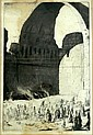 Charles William Cain (1893-1962) Desert Caravan entering Clesphon Arch, Bagdad Etching ede.14/25