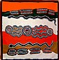 Peggy Napaljarri Rockman Synthetic polymer paint on canvas