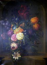 European School (Early 19th Century) Still Life, with Passion Flower Oil on canvas
