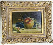 European School (20th Century) Still Life, Fruit Oil on canvas on board