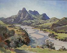 Peter Williams (act. 1990s) New Zealand/Australia Mount Taitai Oil on board