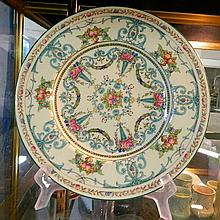 A Royal Worcester cabinet plate with Enamelled fruit and flower decoration c 1949