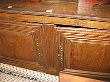 19th Century oak french provincial two door sideboard