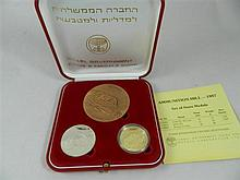 A set of three Israeli State Medals 'Ammunition Hill - 1987'