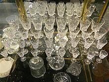 A suite of Waterford crystal glasses Lismore pattern (32)